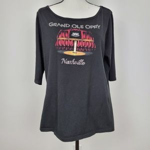 Grand Ole Opry tee shirt bling XXL